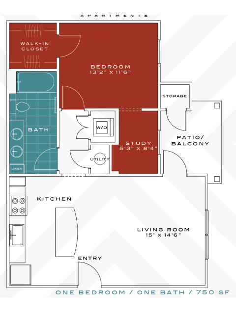 1 Bedroom 1 Bathroom Apartment for rent at Vanguard Northlake in Charlotte, NC