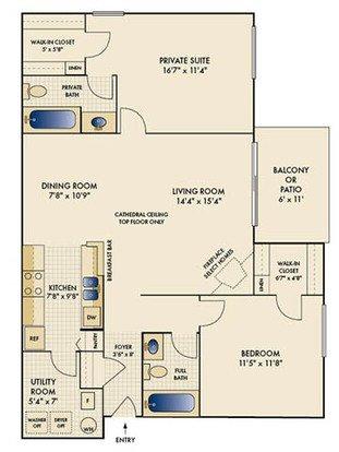 2 Bedrooms 2 Bathrooms Apartment for rent at Mallard Landing in Beavercreek, OH