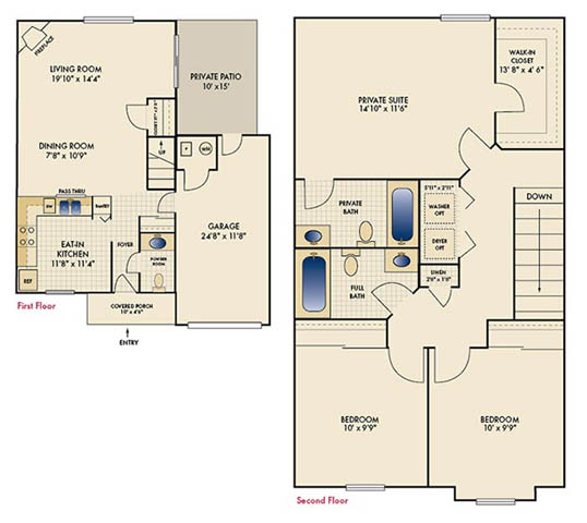 3 Bedrooms 3 Bathrooms Apartment for rent at Mallard Landing in Beavercreek, OH