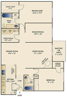 2 Bedrooms 2 Bathrooms Apartment for rent at The Reserve At Miller Farm in Centerville, OH