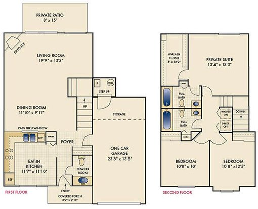 3 Bedrooms 3 Bathrooms Apartment for rent at The Reserve At Miller Farm in Centerville, OH