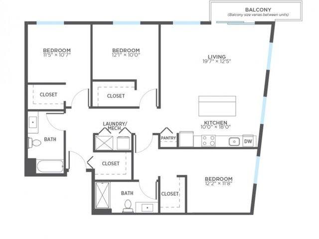 3 Bedrooms 2 Bathrooms Apartment for rent at Stitchweld in Milwaukee, WI
