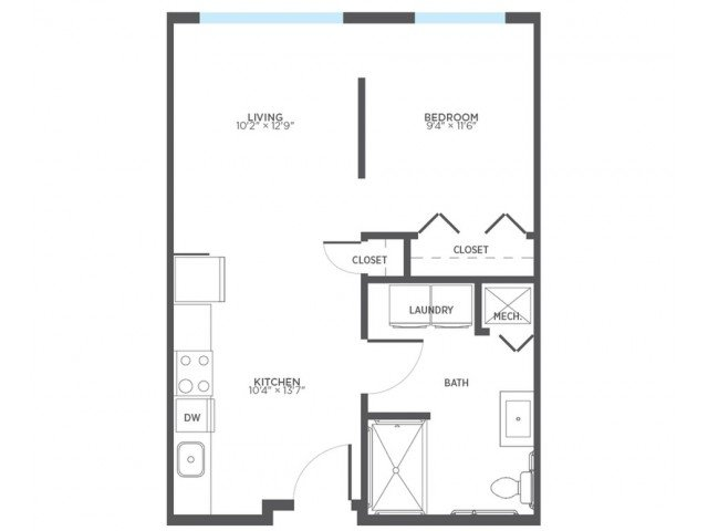 1 Bedroom 1 Bathroom Apartment for rent at Stitchweld in Milwaukee, WI