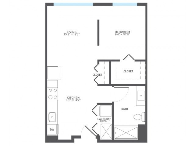 Studio 1 Bathroom Apartment for rent at Stitchweld in Milwaukee, WI