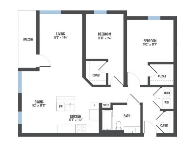 2 Bedrooms 1 Bathroom Apartment for rent at Arsenal 201 in Pittsburgh, PA
