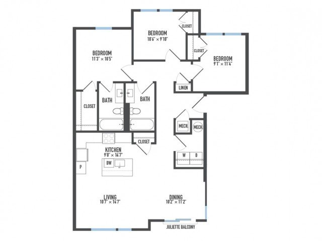 3 Bedrooms 2 Bathrooms Apartment for rent at Arsenal 201 in Pittsburgh, PA
