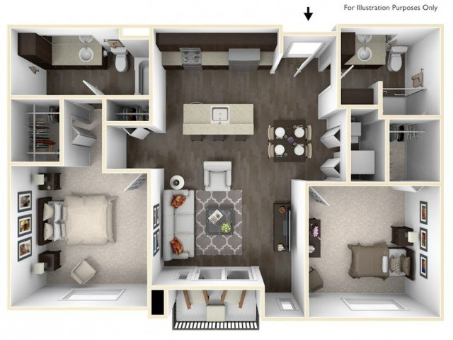 2 Bedrooms 2 Bathrooms Apartment for rent at Stitchweld in Milwaukee, WI