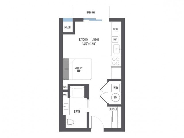 Studio 1 Bathroom Apartment for rent at Arsenal 201 in Pittsburgh, PA