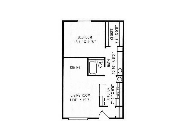 1 Bedroom 1 Bathroom Apartment for rent at Northwoods Apartments in Indianapolis, IN
