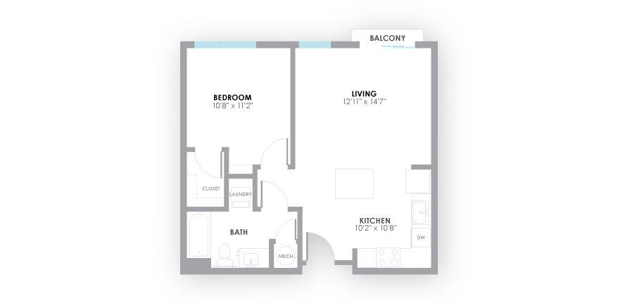 1 Bedroom 1 Bathroom Apartment for rent at Amp Apartments in Louisville, KY