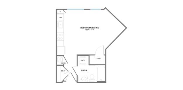 Studio 1 Bathroom Apartment for rent at Gantry Apartments in Cincinnati, OH