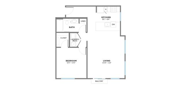 1 Bedroom 1 Bathroom Apartment for rent at Gantry Apartments in Cincinnati, OH