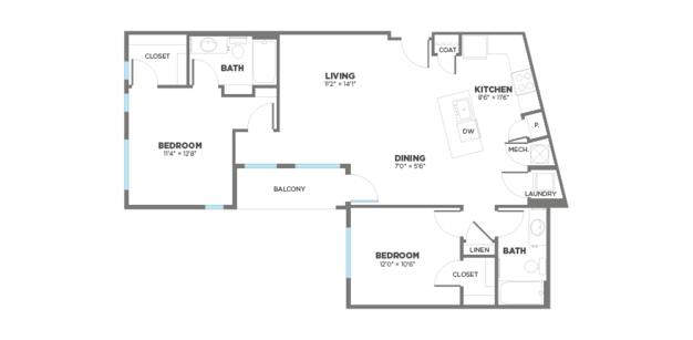 2 Bedrooms 2 Bathrooms Apartment for rent at Gantry Apartments in Cincinnati, OH