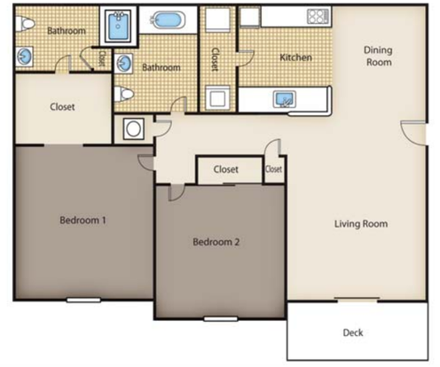 2 Bedrooms 2 Bathrooms Apartment for rent at River Crossing in Charlotte, NC