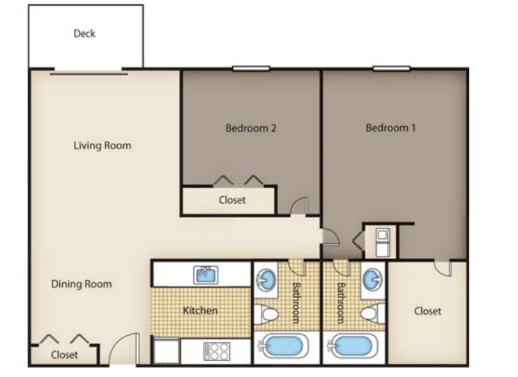 2 Bedrooms 2 Bathrooms Apartment for rent at Valley Creek in Cincinnati, OH