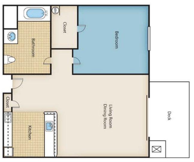 1 Bedroom 1 Bathroom Apartment for rent at Pheasant Run Seniors in Dayton, OH