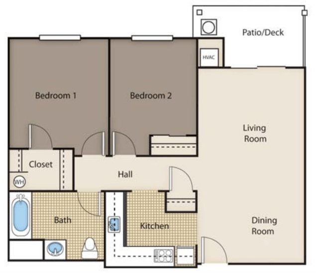 2 Bedrooms 1 Bathroom Apartment for rent at Siena Village in Dayton, OH