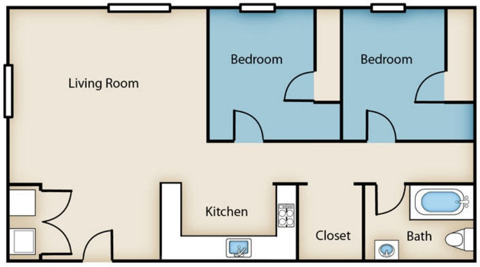 2 Bedrooms 1 Bathroom Apartment for rent at Englewood Senior Housing in Toledo, OH