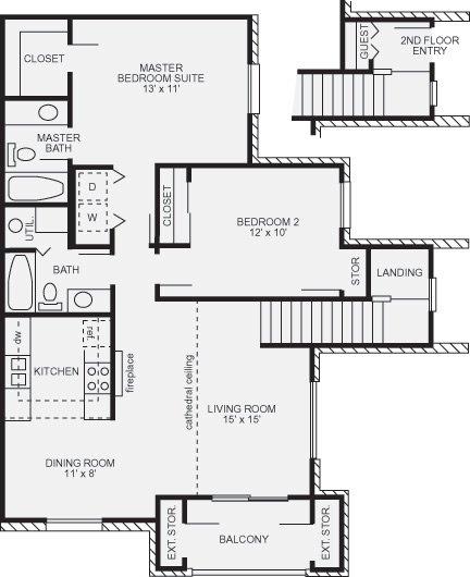 2 Bedrooms 1 Bathroom Apartment for rent at Walden Village in Beavercreek, OH