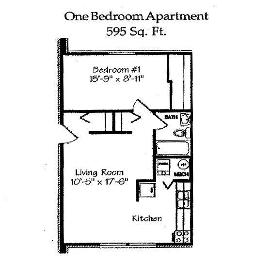 1 Bedroom 1 Bathroom Apartment for rent at Landmark Village in Fairborn, OH
