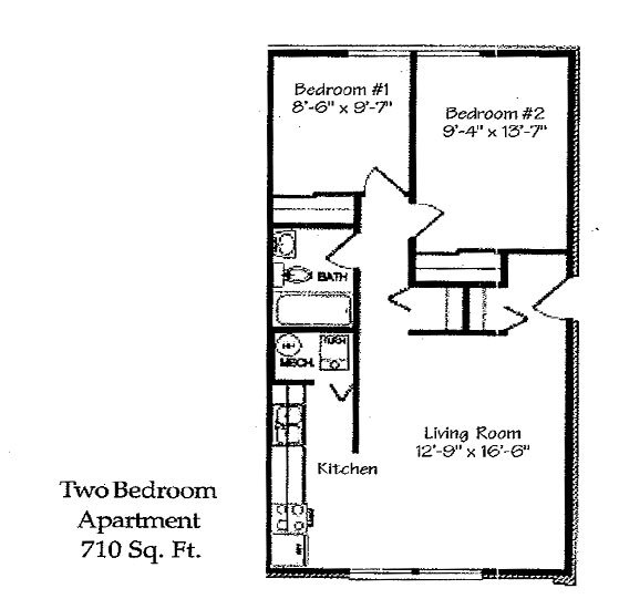 2 Bedrooms 1 Bathroom Apartment for rent at Landmark Village in Fairborn, OH