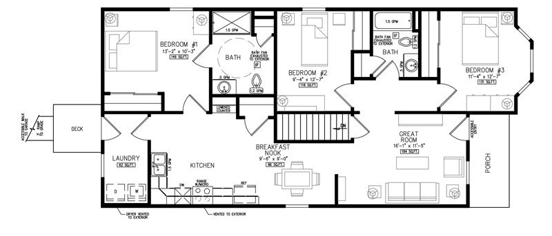 3 Bedrooms 2 Bathrooms Apartment for rent at Twin Towers Crossing in Dayton, OH