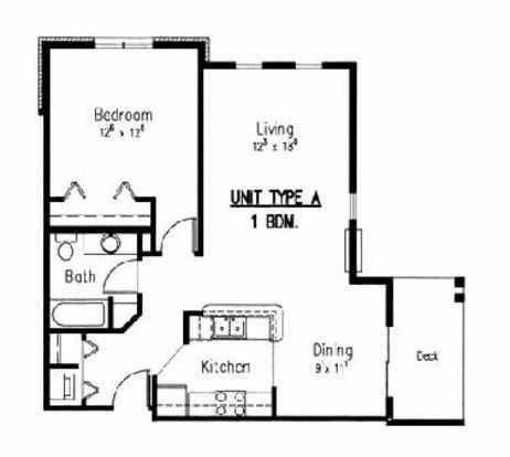 1 Bedroom 1 Bathroom Apartment for rent at Boulder Creek in Middleton, WI