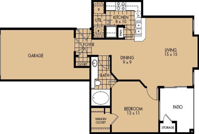 1 Bedroom 1 Bathroom Apartment for rent at Legacy Point in Arlington, TX