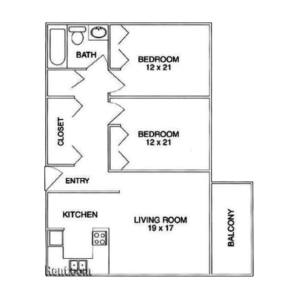 2 Bedrooms 1 Bathroom Apartment for rent at The Birch in Glendale, CO