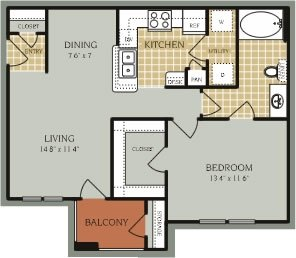 1 Bedroom 1 Bathroom Apartment for rent at Providence At Prairie Oaks in Arlington, TX