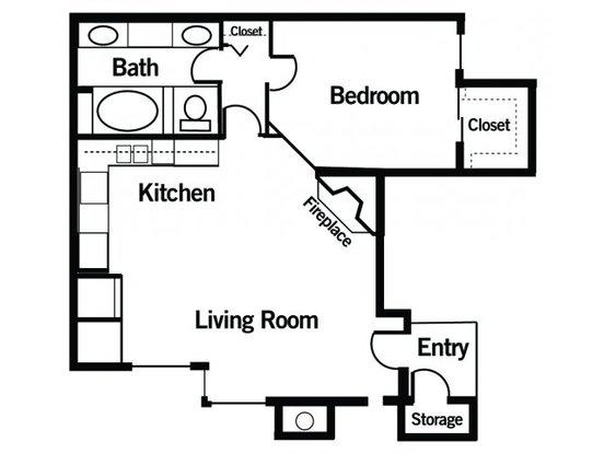 1 Bedroom 1 Bathroom Apartment for rent at Springfield On Ballpark Way in Arlington, TX