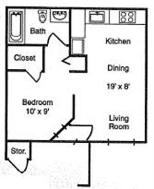 Studio 1 Bathroom Apartment for rent at Dorado Heights in Albuquerque, NM