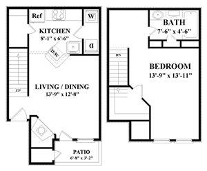 1 Bedroom 1 Bathroom Apartment for rent at Spring Park in Albuquerque, NM