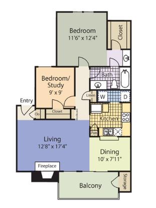 2 Bedrooms 1 Bathroom Apartment for rent at Cobblestone in Arlington, TX