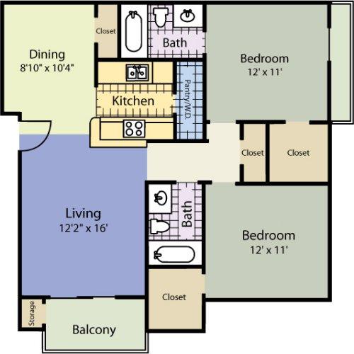 2 Bedrooms 2 Bathrooms Apartment for rent at Summit Ridge in Arlington, TX