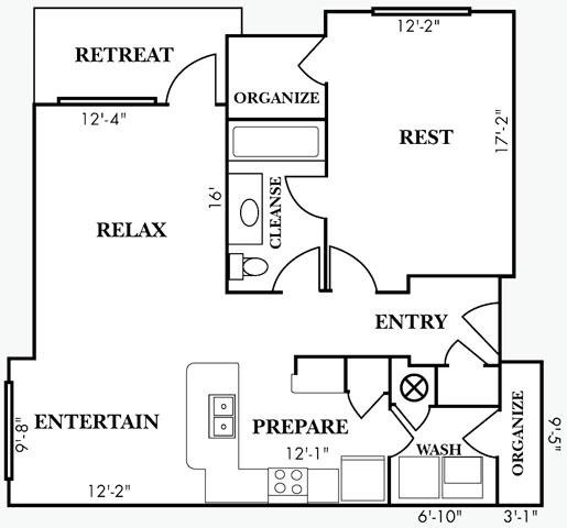 1 Bedroom 1 Bathroom Apartment for rent at Bell Cahaba River in Birmingham, AL