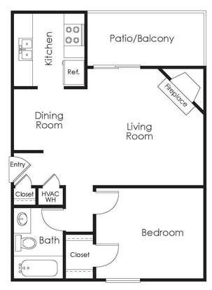 1 Bedroom 1 Bathroom Apartment for rent at Westshore Landing in Auburn, AL