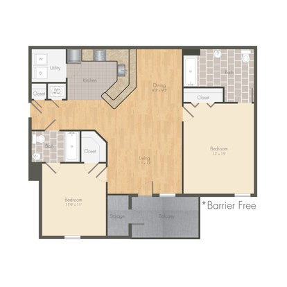 2 Bedrooms 2 Bathrooms Apartment for rent at 1322 North in Auburn, AL