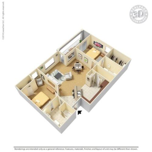 2 Bedrooms 2 Bathrooms Apartment for rent at Crown Ridge Apartments in San Antonio, TX