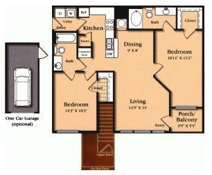2 Bedrooms 2 Bathrooms Apartment for rent at The View At Encino Commons in San Antonio, TX