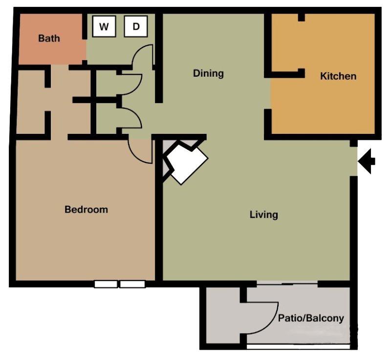 1 Bedroom 1 Bathroom Apartment for rent at 700 Riverchase in Birmingham, AL