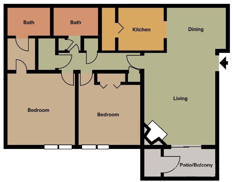 2 Bedrooms 2 Bathrooms Apartment for rent at 700 Riverchase in Birmingham, AL