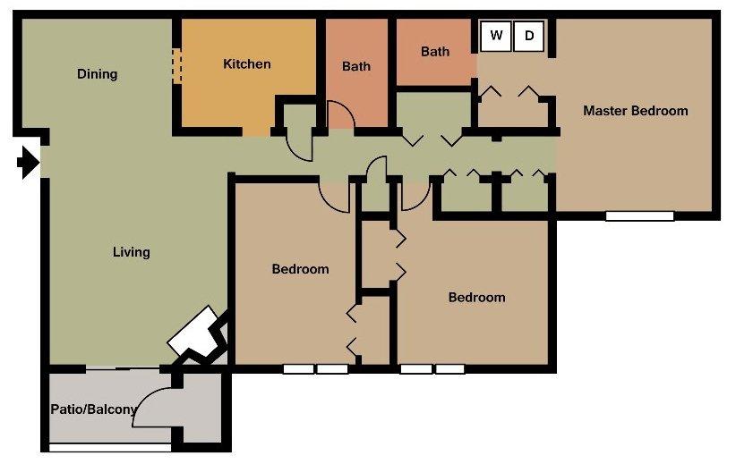 3 Bedrooms 2 Bathrooms Apartment for rent at 700 Riverchase in Birmingham, AL