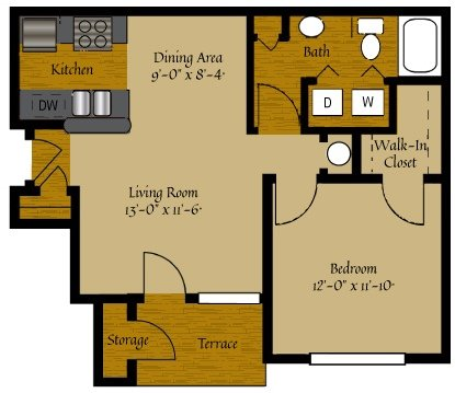 1 Bedroom 1 Bathroom Apartment for rent at Olde Raleigh in Raleigh, NC