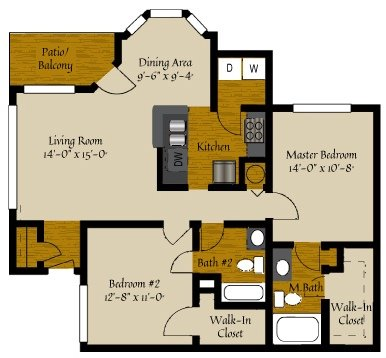 2 Bedrooms 2 Bathrooms Apartment for rent at Olde Raleigh in Raleigh, NC