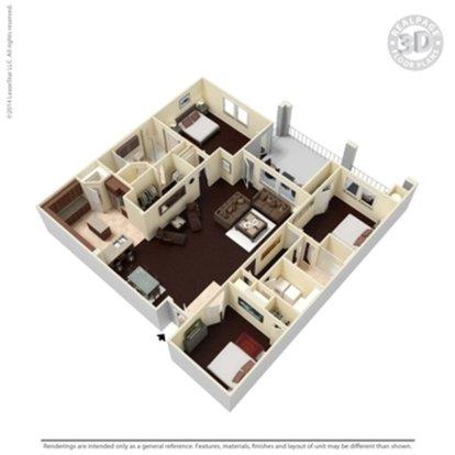 3 Bedrooms 2 Bathrooms Apartment for rent at Cibolo Canyon Apartments in San Antonio, TX