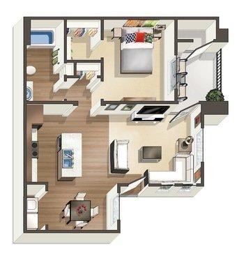 1 Bedroom 1 Bathroom Apartment for rent at Encantada At Santa Monica in Albuquerque, NM