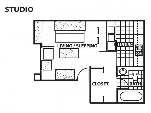 Studio 1 Bathroom Apartment for rent at Cinnamon Tree Apartments in Albuquerque, NM