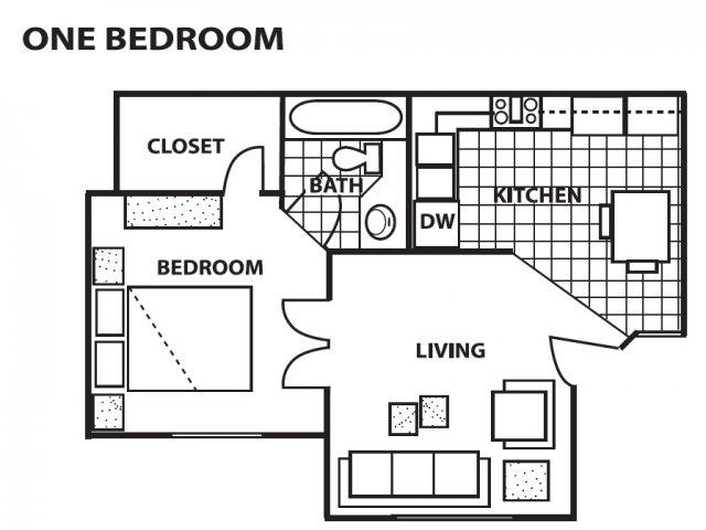 1 Bedroom 1 Bathroom Apartment for rent at Cinnamon Tree Apartments in Albuquerque, NM