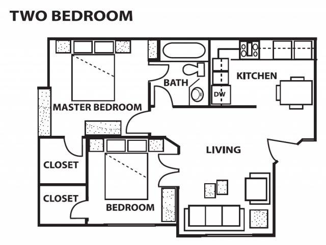 2 Bedrooms 1 Bathroom Apartment for rent at Cinnamon Tree Apartments in Albuquerque, NM